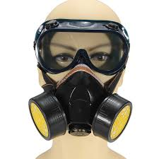 dual anti dust respirator mask glasses set spray paint industrial gas us 11 79 sold out