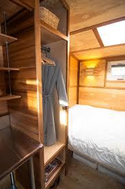 salsa box tiny house closet and bed