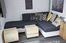 making cushions for tiny house storage sectional
