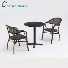 5 pcs patio furniture metal chairs and
