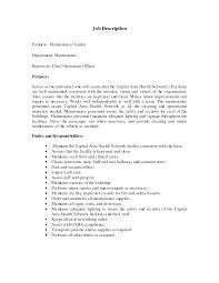 Janitor Job Duties Resume Custodian Job Description For Resume