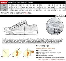 Converse One Star Size Chart Original Converse Unisex Skateboarding Shoes Sneakers