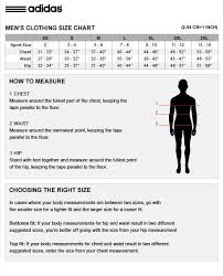 Adidas Men S Size Chart Clothing Complete Adidas Apparel Size Chart Adidas Apparel Size Chart Cm
