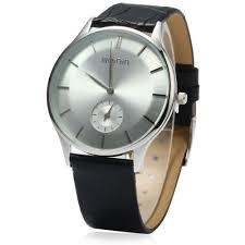 WeiQin W23041 <b>Men</b> Ultrathin Analog Quartz Watch Small ...