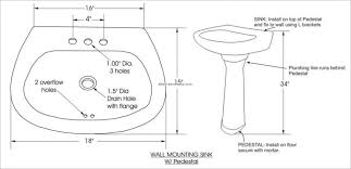 bathroom sink wonderful standard size for kitchen sink drain throughout double sink pipe diagram