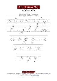 Cursive Letter Chart Free Printable Printable Cursive Letter Tracing Chart Lowercase Abc