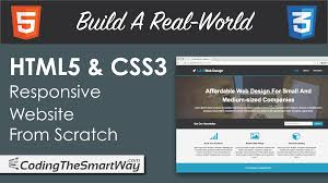 Web Design From Scratch Build A Real World Html5 Css3 Responsive Website From Scratch