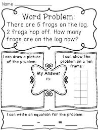 Subtraction within 10 word problems worksheets to help kids see the ...