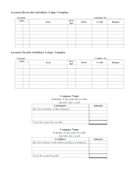 Schedule Of Accounts Receivable Template Accounting Ledger Template Davidhdz Co