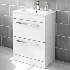 gloss white bathroom cabinet doors. modern bathroom vanity unit designer storage cabinet \u0026 basin sink gloss white doors