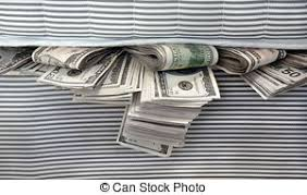 Image result for free images cash under bed