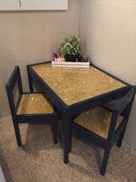 children s table ikea latt glitter epoxy table ikea hack glitterroom