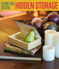 diy hidden storage in old books