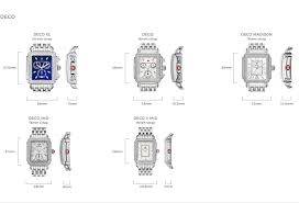 Watch Sizes Chart Mw Official Site Michele Fashion Watches Watch Straps And