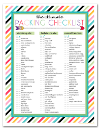 Packing Check List Trip Checklist Magdalene Project Org