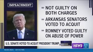 Senate Votes To Acquit President Trump On Both Articles Of Impeachment