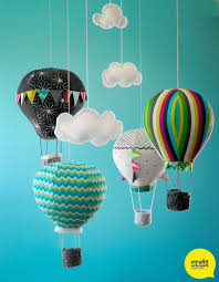 craft schmaft hot air balloon mobile pattern soooo putting these in belle s room jack s room toy room