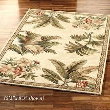 tropical area rugs retreat rug ivory 8x10 florida tropical area rugs