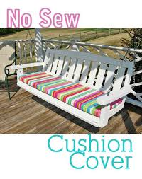 how to make a no sew cushion cover love this idea will be perfect for the bench on the porch that we can t find cushions for