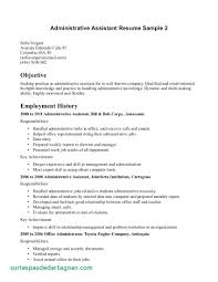 Resume Resumejective Sample Admin Examples Floating City