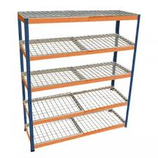 metal point 2 steel shelving unit with wire shelves