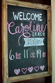 Welcome Caroline Grace Marcellino! Chalkboard PosterChalkboard IdeasWelcome  Home ...