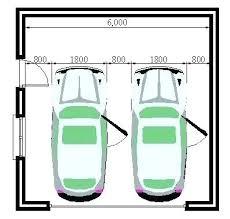 two car garage size standard 3 car garage size standard 2 car garage size width of