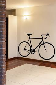 bicycle silhouette wall decals by