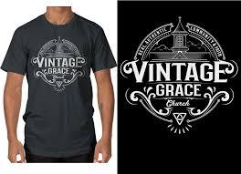 Church Tee Shirt Designs Bold Playful Church T Shirt Design For Vintage Grace