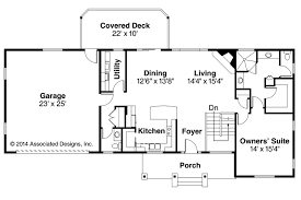Ranch House Plans Gatsby  Associated Designs - House with basement plans