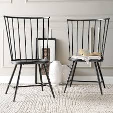 homesullivan walker white wood and metal high back dining chair