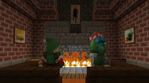 how do you make a fireplace in minecraft pocket edition image
