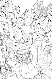 Small Picture Guardians of the Galaxy Coloring Page Guardians of the Galaxy