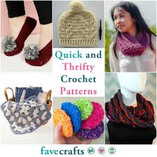 Quick And Easy Crochet Patterns Amazing 48 Quick And Thrifty Free Easy Crochet Patterns FaveCrafts