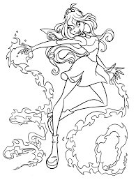 Winx Club Bloom Coloring Pages