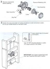 kohler shower valve parts installing a k rite temp bath shower valve terry com shower valve cartridge