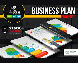 Business Plan In Powerpoint Maxpro Business Plan Powerpoint Presentation Template Visual Hierarchy