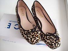 office leopard print. OFFICE Leopard Print Horsehair LEATHER BALLERINA FLATS Size 5 Cord Bow Front Office R