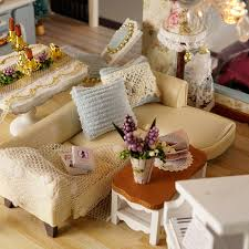 Miniature Wooden Doll House Furniture Kits Toys