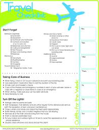 Travel Checklist Printable Pack It In Pinterest Travel