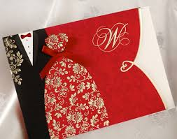 Red Wedding Card Design Us 26 0 20pcs Traditional Chinese Style Red Wedding Invitations Cards With Envelopes Black Red Tuxedo Dress Blank Wedding Cards In Cards
