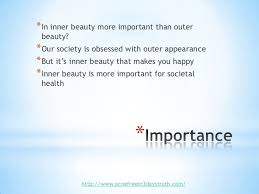 on inner beauty 2 importance<br >in inner beauty more important than outer