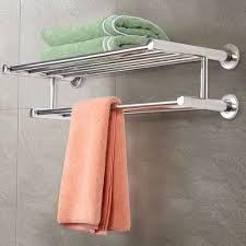 ... Rack, Costway Wall Mounted Towel Rack For Bathroom Ideas: Inspiring  Wall Mounted Towel Rack ...