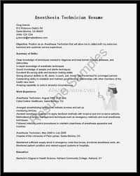 Supply Technician Resume Example Anesthesia Technician Resume Examples Cover Letter Nursehetist 49