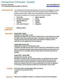 catering porter cv example - Cover Letter For Kitchen Porter