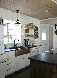 Wood ceiling kitchen Ceiling Designs Diy Wood Planked Ceiling Apartment Therapy Reader Submission Tutorials Apartment Therapy Pinterest Diy Wood Planked Ceiling Ceiling Candy Pinterest Farmhouse