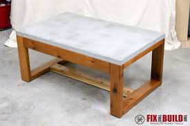fanciful diy concrete top outdoor coffee table fixthisbuildthat