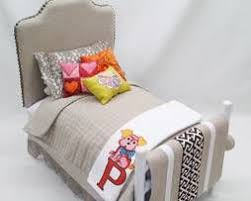 diy doll furniture. covered headboard bed from doll stuff by jana diy furniture