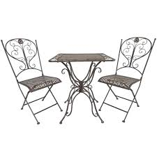 porch table and chairs titan 3 piece bistro table chair dining set outdoor patio rustic porch