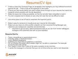 key skills for resumes
